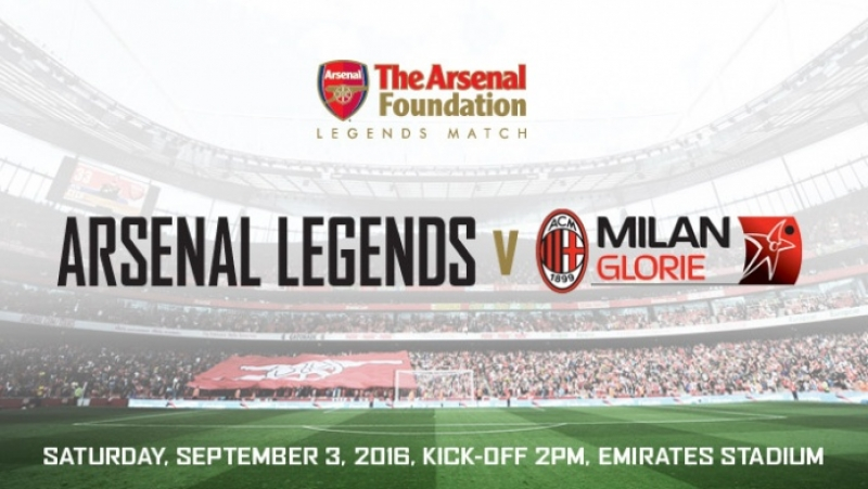 The Arsenal Foundation Legends Match門票預訂